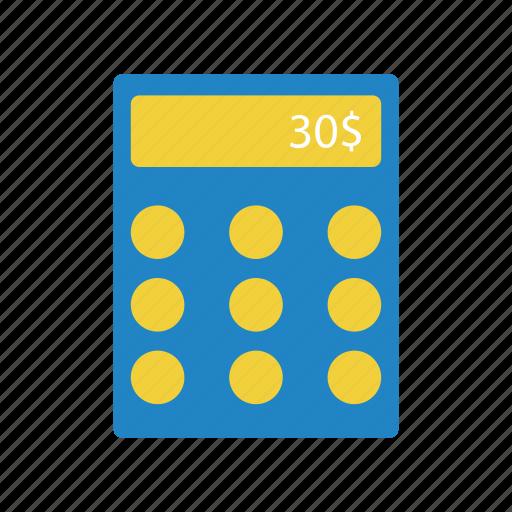 budget, calculator, dollar, finance icon