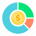 analytics, diagram, finance, statistics icon