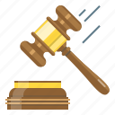 auction, court, court of law, hammer, justice, knock, law icon