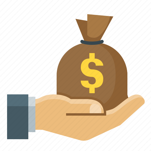 finance, hand, investments, money icon
