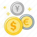 coins, currency, market, money, money market icon