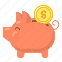 saving, money saving, money box, piggy, piggy bank, save, guardar icon