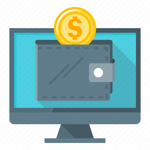 online, online wallet, wallet, web money icon