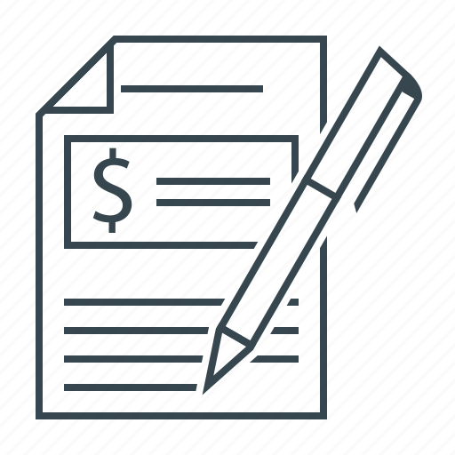 budgeting, document, finance icon