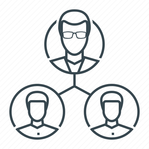 hierarchy, management, organization, team, teamwork icon