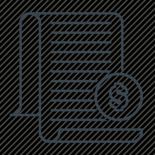 document, tax, taxes icon