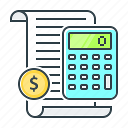 accounting, banking, calculate, calculator, finance icon