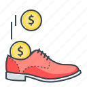 boot, cash, cash stash, shoe, stash icon