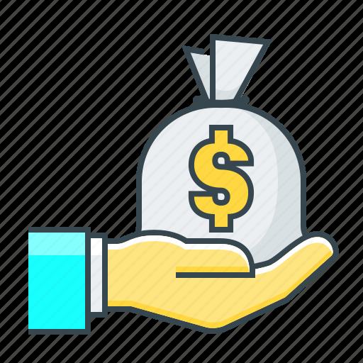 finance, investment, loan money, money, profit icon