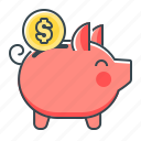 banking, money saving, piggy, piggy bank, saving icon