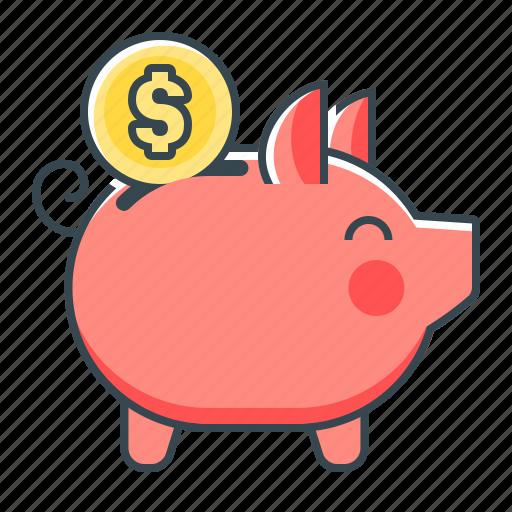 banking, money saving, piggy, piggy bank, saving icon