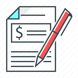 budgeting, document, finance icon