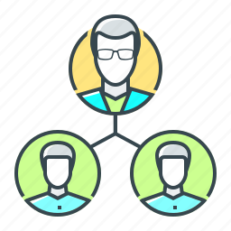 hierarchy, management, organization, structure, team, users icon