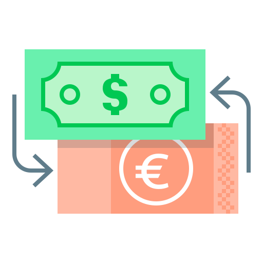 currency, currency exchange, dollar, euro, exchange, finance, money icon