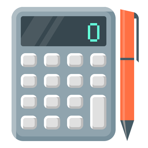 calculate, calculating, calculation, calculator, finance calculator, pen icon