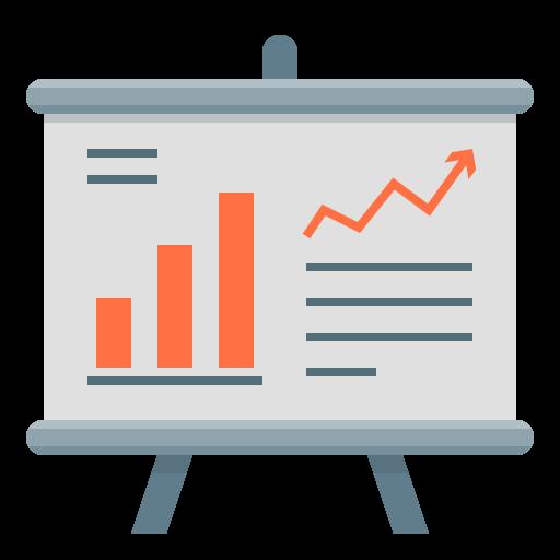 analytics, chart, finance, financial, financial report, flipchart, report icon