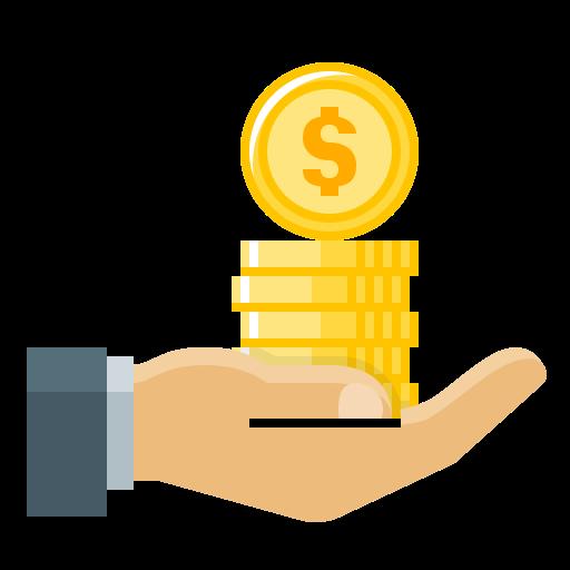 Cash Out Coins Hand Loan Money