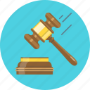 auction, hammer, justice, knock, law icon