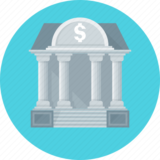 bank, banking, building icon