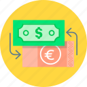 banking, cash, currency, currency exchange, exchange, money icon