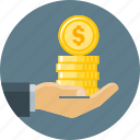 coin, credit, finance, loan, loan money, money icon