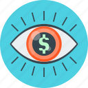 eye, finance, market, market vision, vision icon