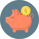 coin, finance, money, money saving, piggy, piggy bank, saving icon