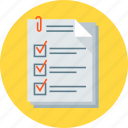 checklist, data, documents, form, questionnaire icon