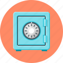 bank, lock, password, safe, safety, secure, security icon