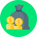 bag, bank, finance, money, saving icon