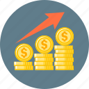 chart, exchange, finance, growth, increment, stock exchange icon