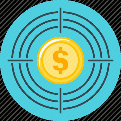 aim, finance, goal, target, targeting icon