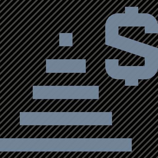 dollar, finance, financial pyramid, lie, money icon