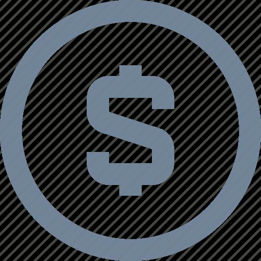 banks, coin, dollar, finance, financial, money, sign icon