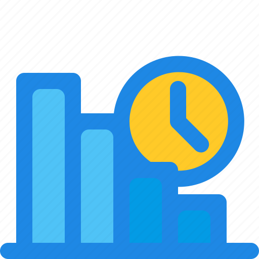 and, bar, business, chart, filled, finance, time icon