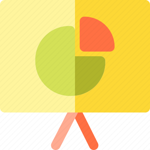 and, business, chart, circle, finance, projector icon