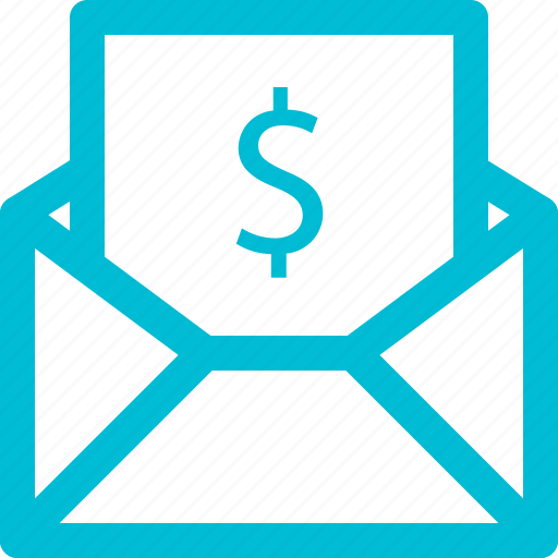 and, business, email, finance, money, outline icon