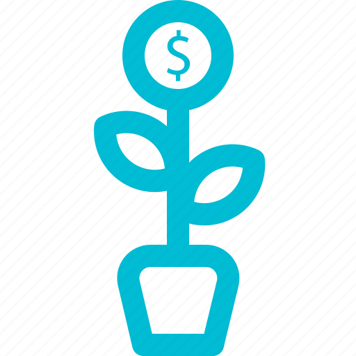 and, business, finance, grow, money, outline icon