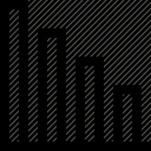 chart, decrease, diagram, graph, graphic, market, pie icon