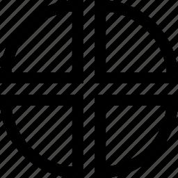 chart, diagram, four pieces, graph, graphic, market, pie icon