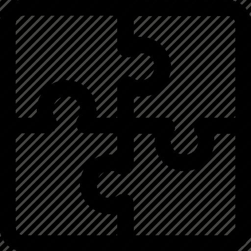 pieces, puzzle icon