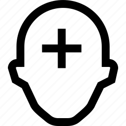 ass, collegue, employee, head, pluss, silhouette icon