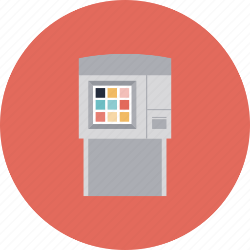 atm, automatic, bancomat, bank, banking, cash, cashpoint, electronic, finance, machine, money, storage, terminal, withdrawal icon