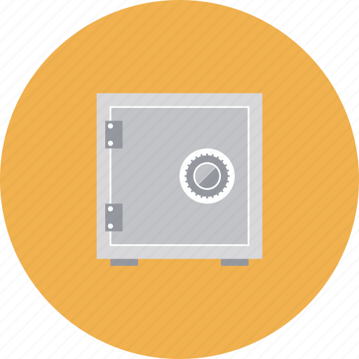 asset, bank, box, deposit, finance, financial, lock, locker, money, safe, savings, secure, security, storage, vault icon