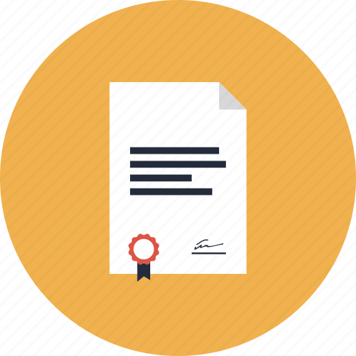 account, asset, business, contract, document, finance, financial, form, item, law, lawyer, paper, seal, securities, security, sign icon