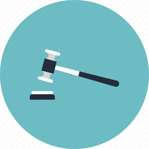 agreement, attorney, auction, business, decision, gavel, hammer, judgement, justice, law, lawyer, mallet, trial, verdict icon