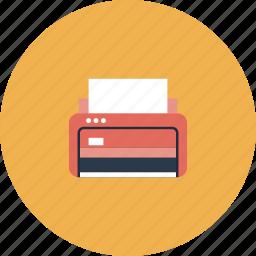 copier, copy, device, equipment, office, paper, print, printer, printout, scanner, technology, tool icon