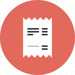 account, bill, business, buy, check, debt, finance, financial, item, payment, purchase, receipt, retail, sale icon