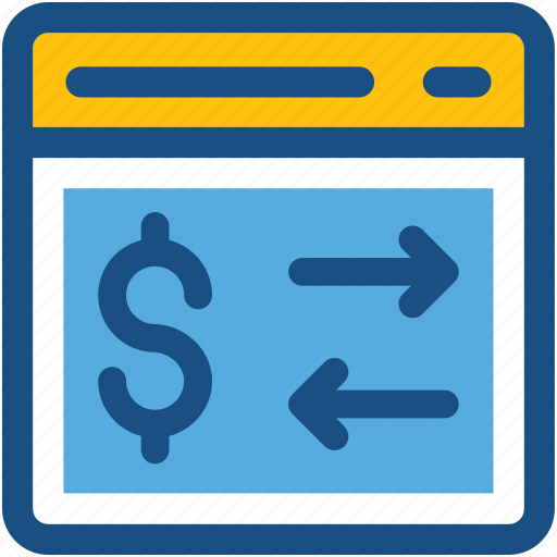 currency exchange, dollar, finance, foreign exchange, online currency exchange icon