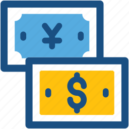 banknote, dollar, paper money, paper note, yen icon